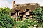Touristes une visite de la maison de Anne Hathway, Stratford, Angleterre