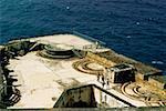 High angle view of El Morro Fort, San Juan, Puerto Rico
