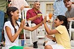 Girls Playing at Family Gathering