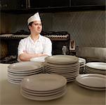 Porträt von Küchenchef im Diner