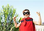 Portrait of Boy Wearing Super Hero Costume