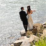 Bride and Groom Fishing