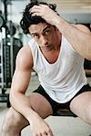Portrait of Man in Gym