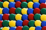 multi-coloured thumb tacks