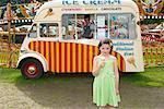 Girl at Carters Steam Fair, England