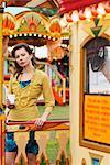 Woman at Carters Steam Fair, England