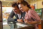 Couple at Carters Steam Fair, England
