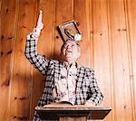 Portrait of Man Preaching