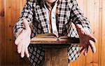 Preacher Gesticulating