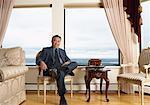 Portrait of Man in Elegant Home
