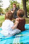 Photo prise de père des bébés