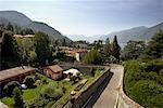 Vue d'ensemble du Bellagio et le lac de Côme, Italie