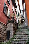 Escalier entre les maisons, Bellagio, Italie