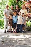 Portrait of Men with Grandsons