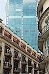 Gros plan des bâtiments, Shanghai, Chine