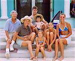 Portrait of a family posing, Bermuda