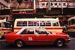 Traffic on the road, Hong Kong, China