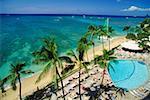 High angle view of the beach, Hawaii, USA