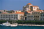 Bâtiments au bord de mer, Siracusa, Sicile, Italie