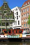 Péniche, Prinsengracht, Amsterdam, Hollande