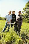 Portrait of Boys in Field