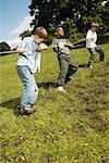 Boys Playing Tug-of-War