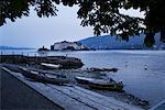 Boats on Shore, Lake Maggiore, Fisherman's Island, Italy