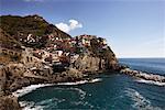 Vue d'ensemble des Cinque Terre, Italie
