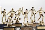 Close-Up of Little League Trophies