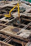 Highrise Construction, Preparing Foundation, Siam Center, Bangkok, Thailand