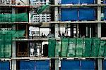 Construction de tours d'habitation en Bangkok, Thaïlande