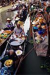 Flottant marché, Bangkok, Thaïlande