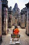 Statue de Bouddha au Temple Bayon, Angkor Thom, Siem Reap, Cambodge