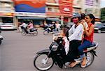 Family Riding Motorcycle, Phnom Penh, Cambodia