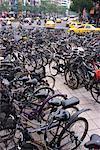 Plusieurs stationnement vélos, Taipei, Taiwan