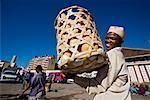 Man Selling Bread at Analakely Market, Antananarivo, Madagascar