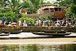 Market on River, Antainambalana River, Maroantsetra, Madagascar
