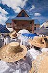 People Dressed in White Walking to Church, Soatanana, Madagascar