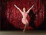 Tänzerin auf der Bühne