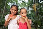 Little Girls Eating Watermelon