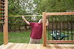 Man Building Deck