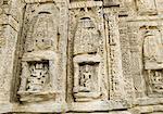 Carvings on a wall, Lakshmi Narayan Temple Complex, Chamba, Himachal Pradesh, India