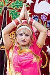 Portrait of a female performer dancing, Jaipur, Rajasthan, India
