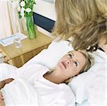 Krankenhaus-Patienten sah zu Frau