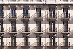Balconies, Side of Building, Madrid, Spain