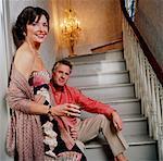Couple par escalier