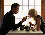 Couple in Japanese Restaurant