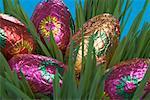 Chocolate Easter Eggs Hidden in Grass