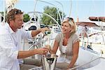 Couple sur Yacht Marina