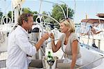 Couple on Yacht at Marina
